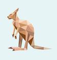 Kangaroo low polygon style vector image vector image