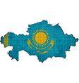 Kazakhstan map with flag inside vector image