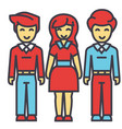 man and woman in full body concept line vector image vector image