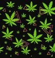 marijuanagreen weed dope seamless pattern vector image