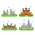 medieval castles fortresses and bastions vector image vector image