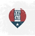 Memorial Day Sale graphic Label with Text vector image vector image