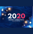 merry christmas and happy new 2020 year holiday vector image