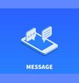 message icon symbol vector image vector image