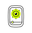 mobile phone with an open eye vector image vector image