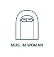 muslim woman line icon linear concept vector image