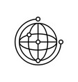 network global icon - artificial vector image