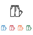 pants icon vector image vector image