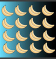 pattern of ripe bananas on a blue background vector image vector image