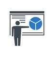 presentation glyph icon vector image