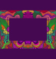 psychedelic abstract frame with place for text vector image vector image