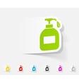 realistic design element liquid soap vector image vector image