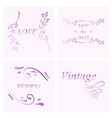 retro vintage insignias or logotypes set with vector image vector image