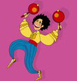 salsa dancer vector image vector image