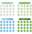 Set of colors icon emotions face vector image