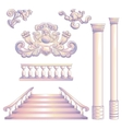 Set Of Column And Stairway vector image