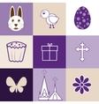 Set of images on the theme of Easter vector image vector image
