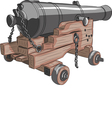 ship gun a vector image