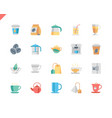 simple set coffee and tea flat icons for website vector image