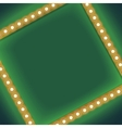 Square frame with glowing light bulb vector image vector image