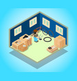 stockroom concept banner isometric style vector image