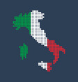 style map of italy in colors of country vector image vector image