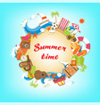 summer time elements banner vector image vector image