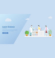 team of laboratory learn science for website vector image