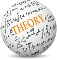 Theory concept on sphere vector image