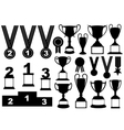 Trophies and medals set vector image