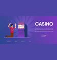 unlucky man cry lose cash money slot machine vector image