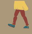 walking retro female legs banner woman legs in vector image vector image