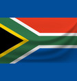 waving national flag of south africa vector image