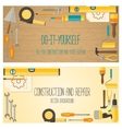 Web banner concept of DIY shop vector image vector image