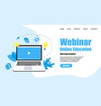 web template webinar internet conference concept vector image vector image