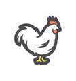 wicock rooster icon cartoon vector image