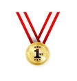Winner medal vector image