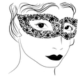 woman in mask vector image vector image