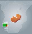 zambia information map vector image vector image