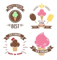 Colorful ice cream banners vector image