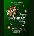 happy birthday invitation poster template vector image