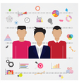 Young businessmen and business idea icon vector image