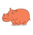 a cheerful orange hippopotamus vector image vector image