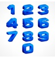 Alphabet isometric numbers in vector image vector image