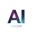 Artificial intelligence logo artificial