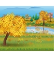 Autumn nature landscape with forest and lake vector image vector image