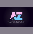 az alphabet letter join joined letter logo design vector image vector image