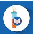 book school open and laboratory vector image