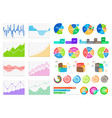 bright flat graphics and volumetric diagrams set vector image