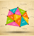 business triangle diagram template vector image vector image
